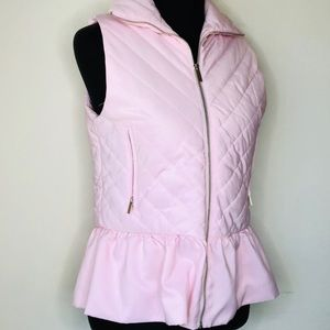 FOR CYNTHIA💞Light Pink Zip-Up Vest w Ruffle Skirt
